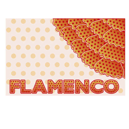 madrid spain: Flamenco party greeting card, vector illustration