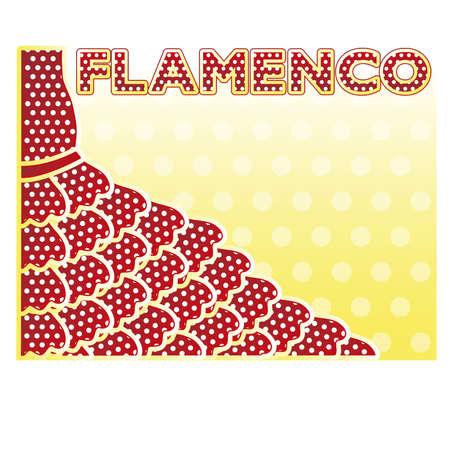 Flamenco partij uitnodigingskaart, vector illustratie Stock Illustratie