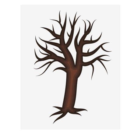 genealogical: Decorative tree, vector illustration
