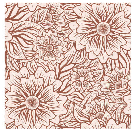 Floral seamless background, vector illustration