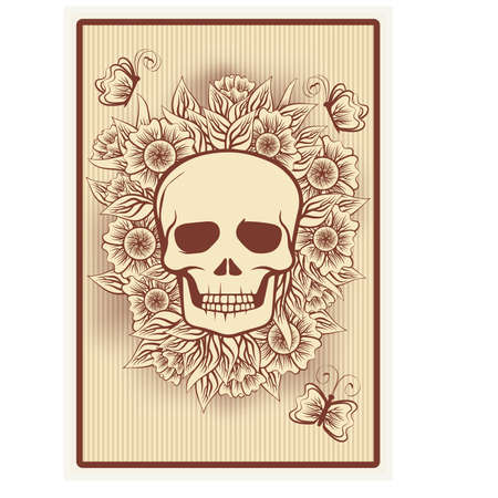 incubus: Poker card with skull, illustration