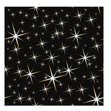 stardom: Seamless golden stars pattern, vector illustration Illustration