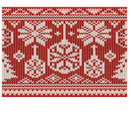scrapping: Happy winter knitted ornate, seamless pattern, vector illustration Illustration