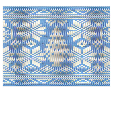 Holidays winter knitted seamless wallpaper, vector illustration Illustration