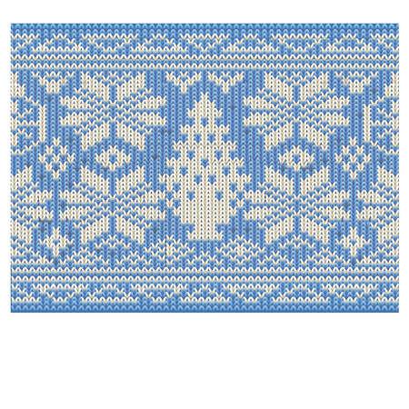 Wintervakantie gebreide naadloze behang, vector illustratie Stock Illustratie