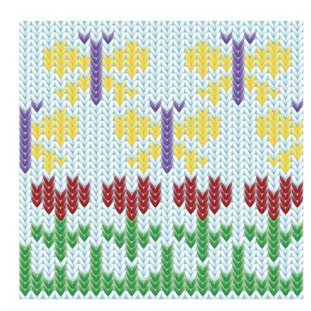 incest: Spring time knitted background vector illustration