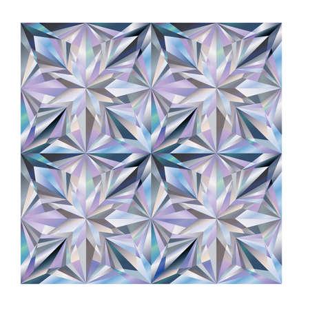 Diamond seamless texture wallpaper, vector illustration Illustration
