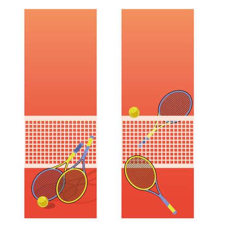 Bannières verticales de court de tennis, illustration vectorielle Banque d'images - 77412277