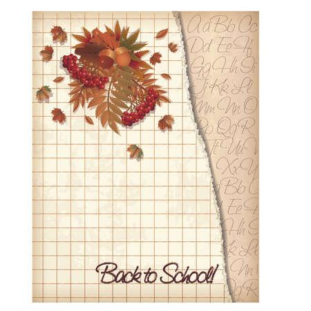 grammatical: Back to school background, vector illustration