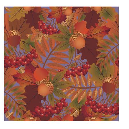 Autumn seamless wallpaper, vector illustration Illustration