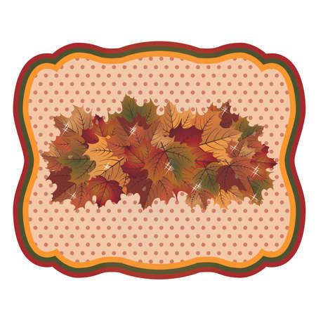 Herfst seizoen achtergrond, vectorillustratie