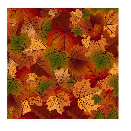 Herfst naadloos patroon, vectorillustratie