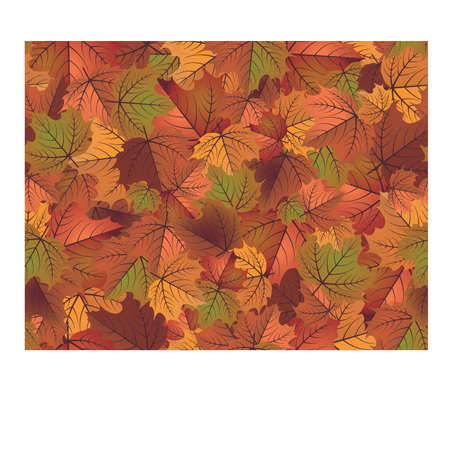 Herfst naadloze behang, vectorillustratie Stock Illustratie