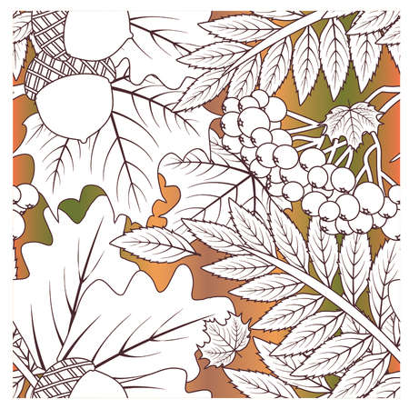 Autumnal seamless season background, vector illustration