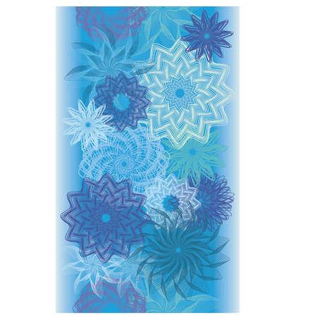 Naadloze de banner van de winter abstracte bloemen, vectorillustratie