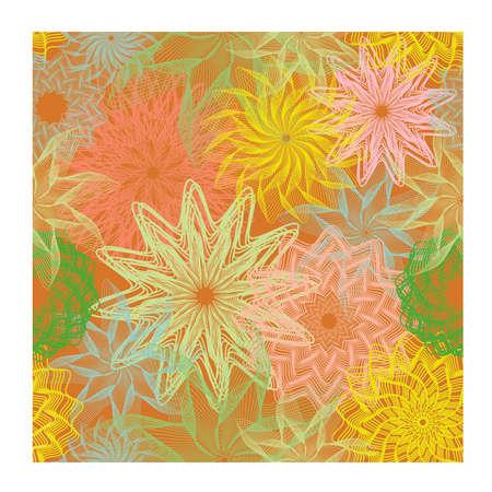 Autumn flowers seamless wallpaper.