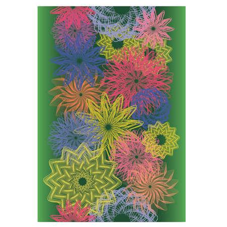 Spring seamless banner, vector illustration