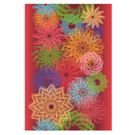 calendar design: Summer seamless banner, vector illustration