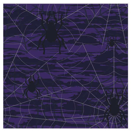 spider web: Halloween with spiderwebs illustration. Illustration