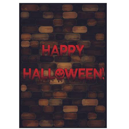 Gelukkige Halloween-achtergrond, vectorillustratie Stockfoto - 87663967