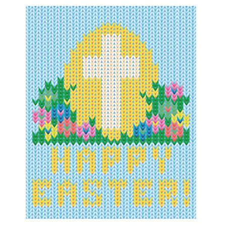 Happy Easter holiday vard, vector illustration Illustration