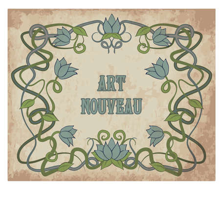 Floral background in art nouveau style illustration