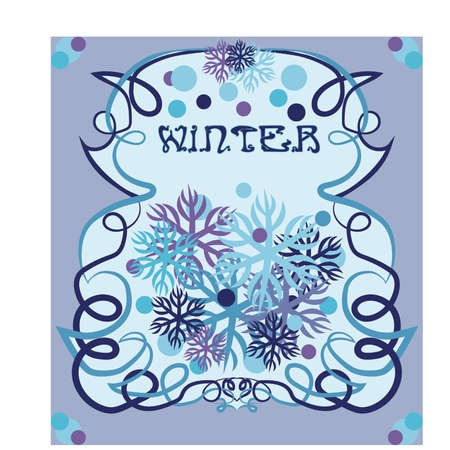 Winter card in art nouveau style, vector illustration