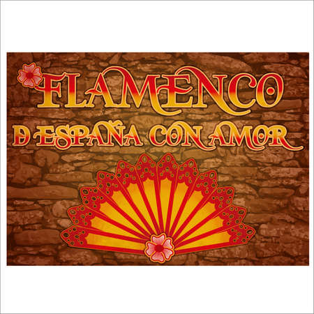 Flamenco party Spain love banner. vector illustration Ilustração