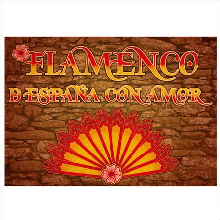 Flamenco party Spain love banner. vector illustration Illustration