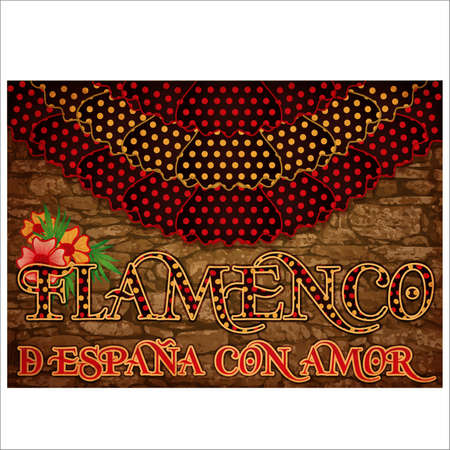 Flamenco. From Spain with Love. Flamenco party invitation banner. vector illustration Ilustração