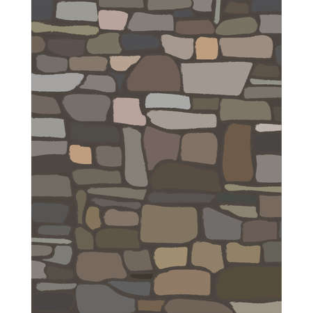 Old rock stone wall texture. vector illustration