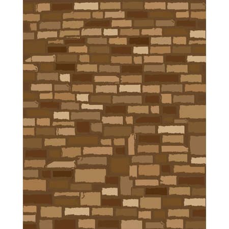 Old stone wall texture background. vector illustration