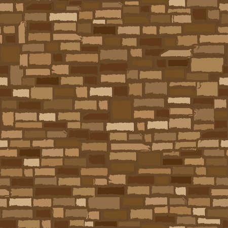 Old rock stone wall, seamless texture, vector illustration  イラスト・ベクター素材