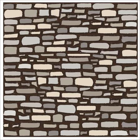 Ancient rock stone texture, vector illustration  イラスト・ベクター素材