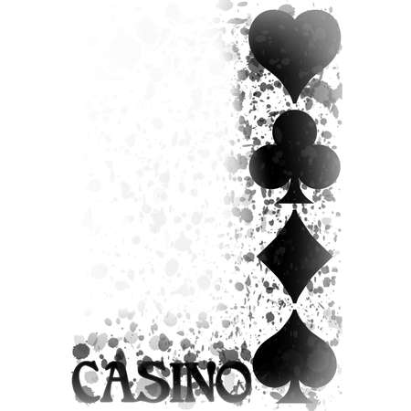 Casino wallpaper with poker cards element, vector illustration