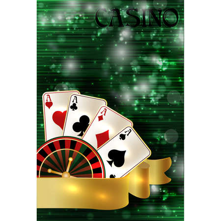 Casino invitation banner, vector illustration