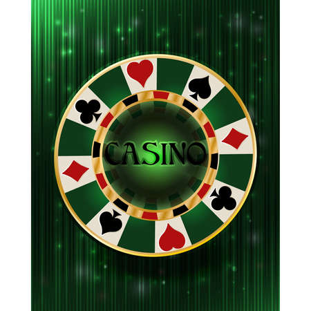 Casino vip poker chip background, vector illustration