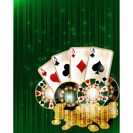 Casino poker vip invitation card, vector illustration