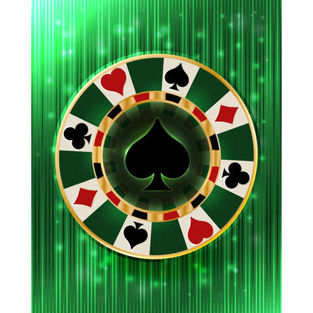 Casino vip poker spades chip, vector illustration