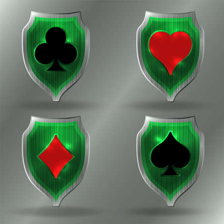 Casino Poker coat of arms, vector illustration Illustration