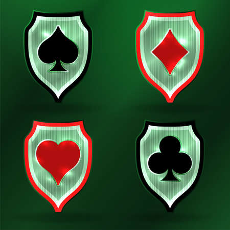 Casino Poker coat, banners vector illustration
