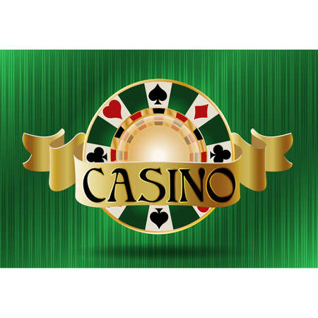 Casino poker vip chip, vector illustration Illustration