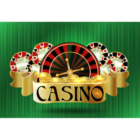 Casino poker vip greeting background, vector illustration