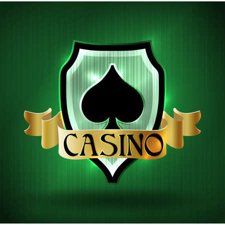 Casino vip poker spades card, vector illustration