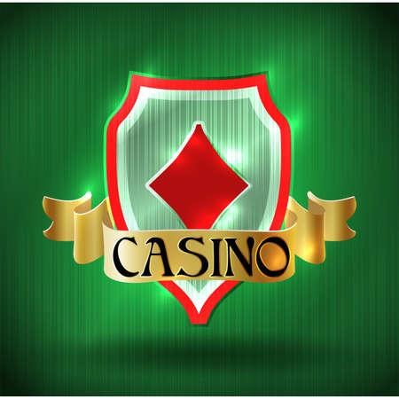 Casino vip poker diamonds card, vector illustration