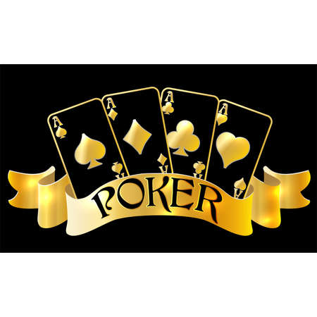 Casino poker vip greeting card, vector illustration Illustration