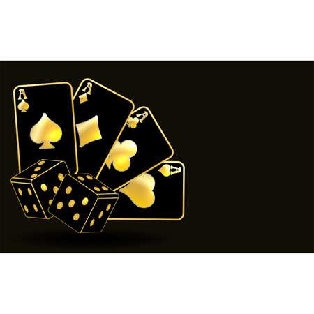 Casino poker vip card, vector illustration Vector Illustration