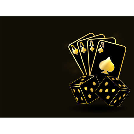 Poker vip background, vector illustration