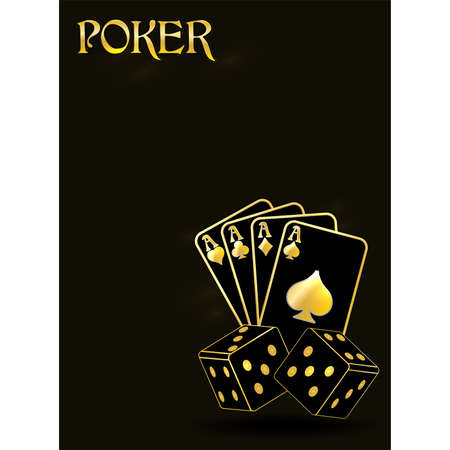 Poker vip invitation banner, vector illustration