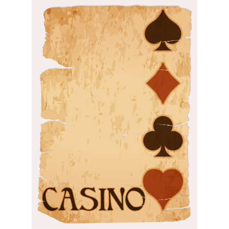Casino vintage card, vector illustration Illustration
